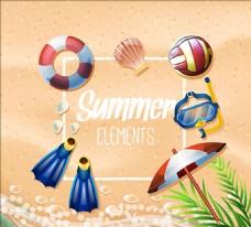 夏天的元素集合