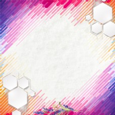 红黄紫炫彩时尚科技促销主图背景素材psd