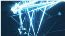 线条金属闪光光效背景视频素材