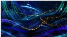 雨蝶梦幻发光粒子场景生长运动背景视频素材