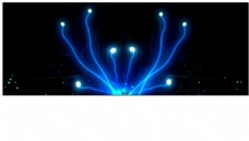 绚丽开场唯美背景LED彩灯映射布高清实拍