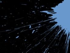高清拍摄蓝色液体呈放射状喷溅视频素材
