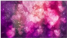 粉色心形梦幻光斑背景