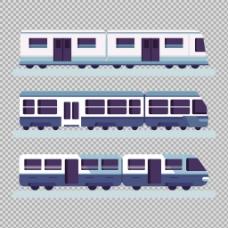 手绘扁平风格火车插图免抠png透明素材