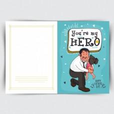 父亲拥抱女儿的神奇贺卡