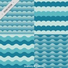 蓝色波浪纹的多样性