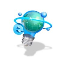 手绘灯光节能元素