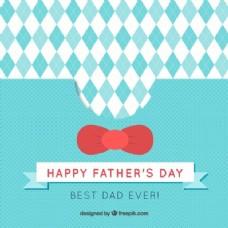 最佳爸爸卡和红色蝴蝶结