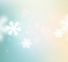 飘雪季节装饰冬季