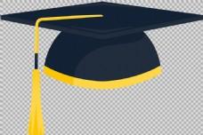 黑色毕业帽免抠png透明图层素材