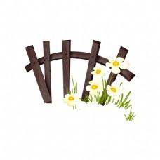 花朵籬笆元素