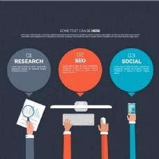 在平面设计营销图表