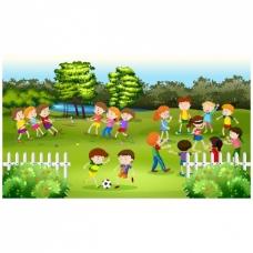 儿童游戏背景设计