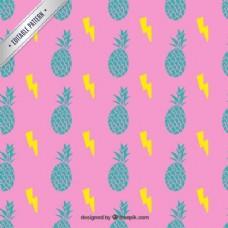 色彩鲜艳的菠萝图案