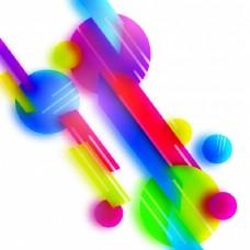 具有几何条纹和圆形的创意色彩抽象元素设计。