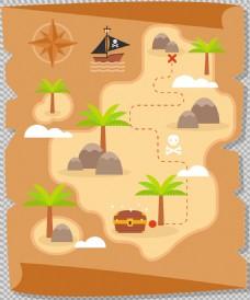海盗藏宝图图免抠png透明图层素材