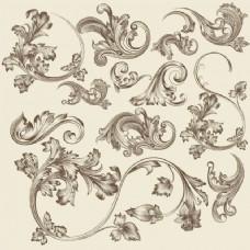 一套手绘花卉复古饰品