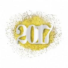 金色纸屑新年背景