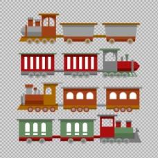 卡通风格火车插图免抠png透明图层素材