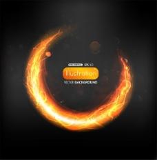灼热的能量,抽象的篝火