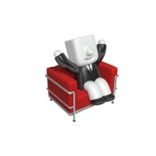 3D沙发小人元素