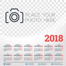 灰色2018年日历图片