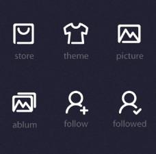 衣服简单图标PSD素材