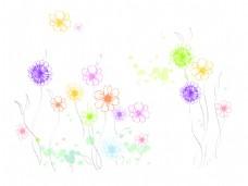 彩色线条花纹图案