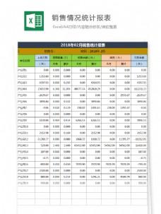 销量情况统计报表Excel文档