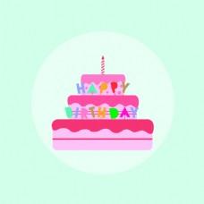 卡通蛋糕素材设计