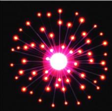 红色光点连线烟花光效背景