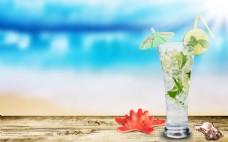 夏日清凉背景图片素材