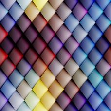彩色立体几何背景素材