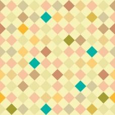 几何背景与正方形,柔和的颜色