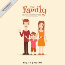 可爱的微笑家庭场景