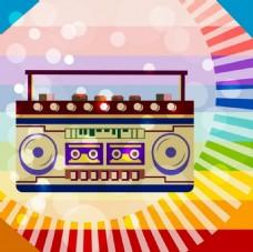 复古音乐收音机背景图