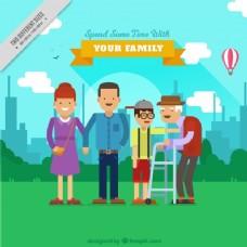 公园里的幸福家庭