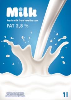 白色牛奶背景图