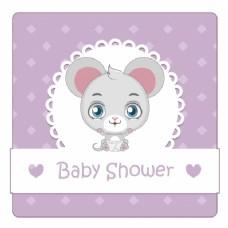婴儿淋浴背景与鼠标