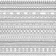 手绘民族特色花纹背景
