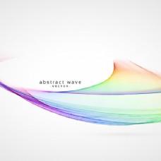 优雅的彩虹背景