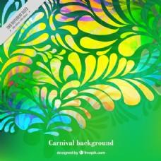 装饰形态的绿色背景