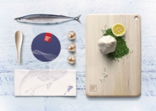 创意日本料理背景