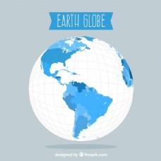 灰色地球背景