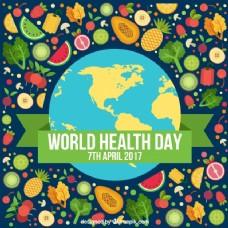 健康日充满健康食品的美好背景