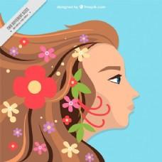 有头发的女人的背景