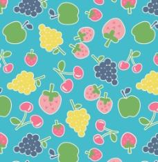 可爱水果卡通图案矢量素材