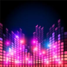 紫色音频梦幻背景图片
