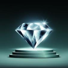 闪亮钻石舞台矢量素材