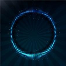 蓝色光圈背景素材
